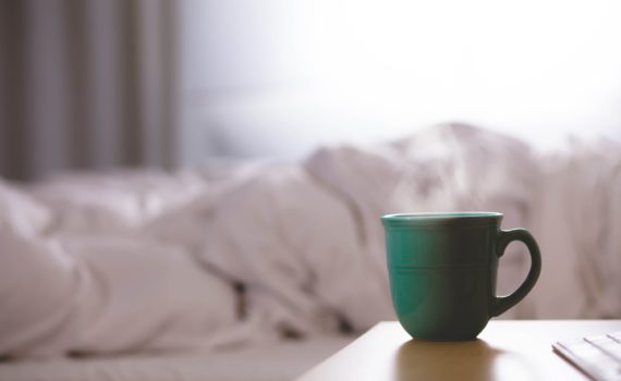 mug on bedside table -flu prevention and treatment